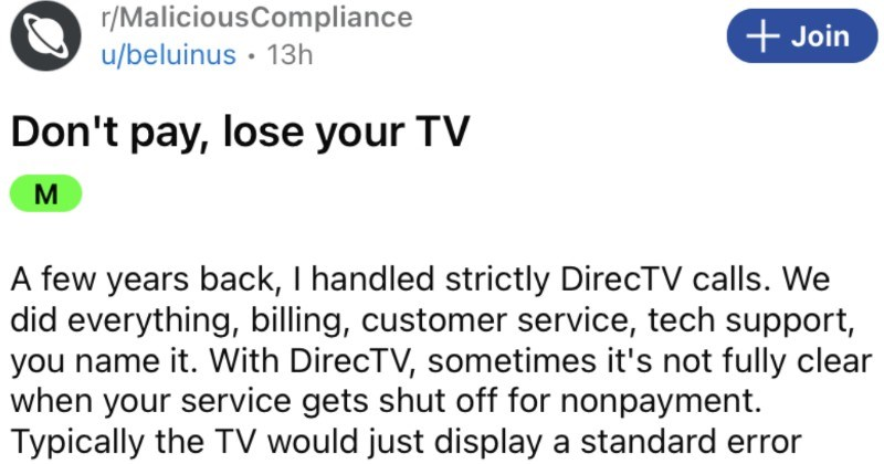 Karen refuses to make her minimum payments, and then proceeds to lose access to all of her working TVs.