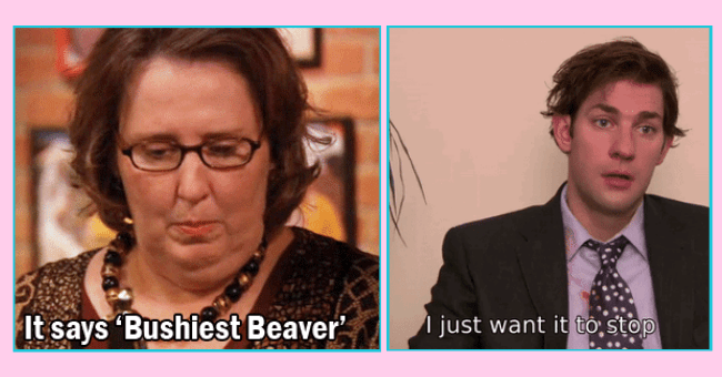 lines from 'The Office' that you should never use in bed | thumbnail text - it says 'bushiest beaver' I just want it to stop