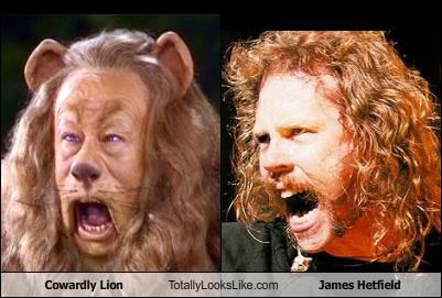 animals Cowardly Lion James Hetfield lion metallica wizard of oz