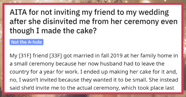 Hypocrite Fuming After Someone She Uninvited To Her Wedding Didn't Invite Her Back| Thumbnail text -
