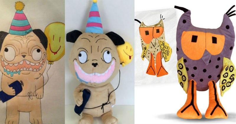 drawing stuffed animal toys custom kids creative children