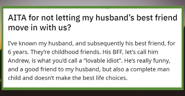 Man Angry At Wife After She Says No To His BFF Moving In With Them And Their Newborn| thumbnail text -