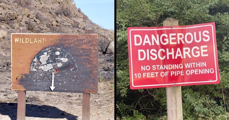 scary weird and creepy warning signs