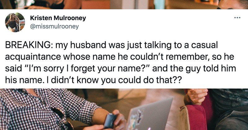 A Twitter thread about people's clever ways to remember names after forgetting them.