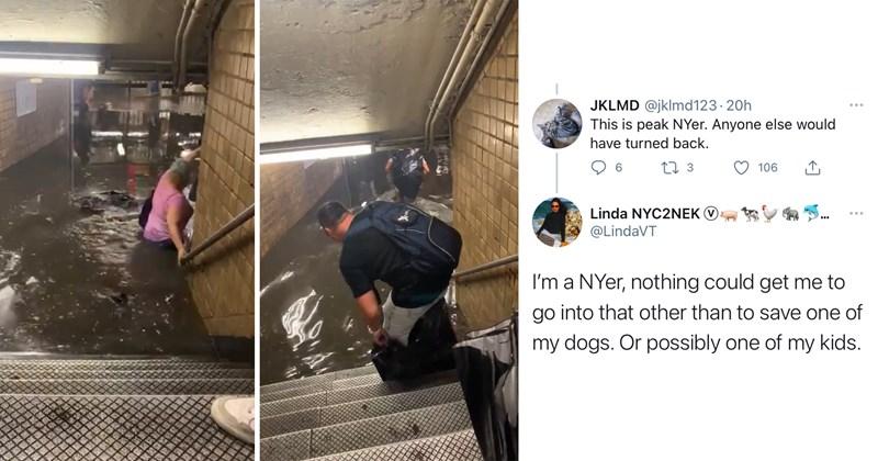 new york city, nyc, infrastructure, hurricane elsa, weather, climate change, urban planning, cuomo, de blasio, disaster, flood, subway flooding, twitter, viral tweets, viral videos, public transit