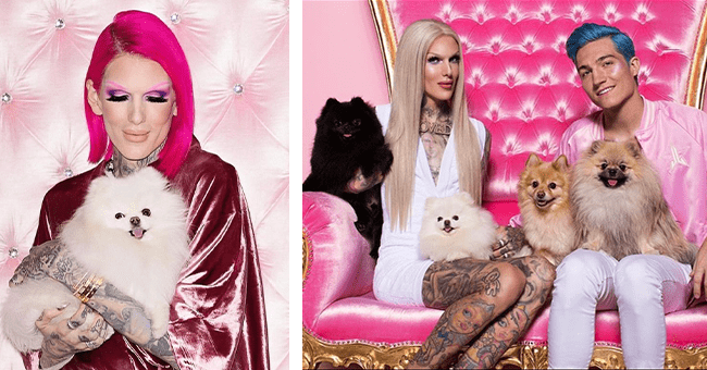 15 jeffree star dog images | thumbnail right and left jeffree star and partner with dogs
