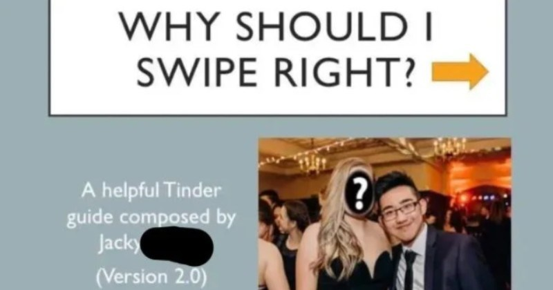 Guy goes all out on a Powerpoint for his Tinder match.