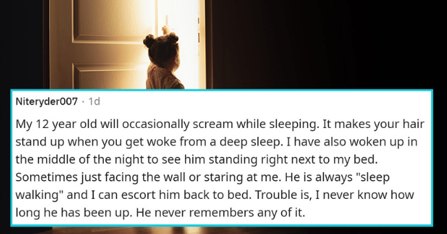 """parents recall the creepiest things their kids have ever done 