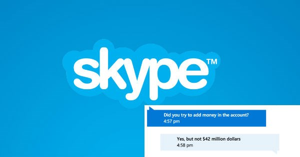 customer service skype funny money