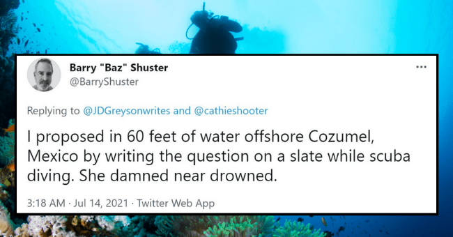 """People Proving That Getting Down On One Knee Isn't The Only Way To Propose 