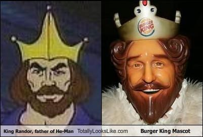 cartoons food he man King Randor the burger king