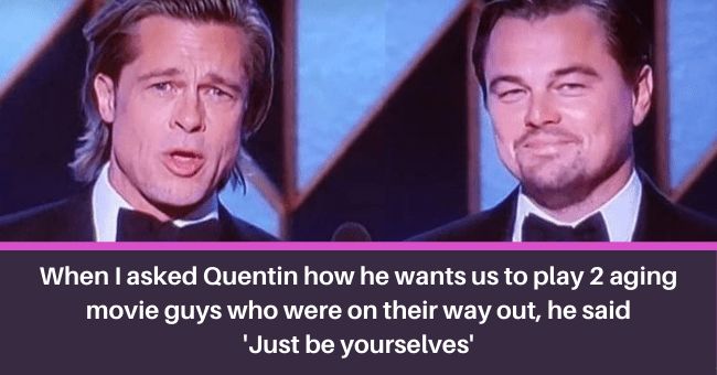 People Who Are Extremely Skilled In The Art Of Roasting Themselves  thumbnail text - THE BEST MOVIE LINES facebook.com/Thebestmoveinei When I asked Quentin how he want us to play 2 ageing movie guys who were on their way out, He said 'Just be yourselves'