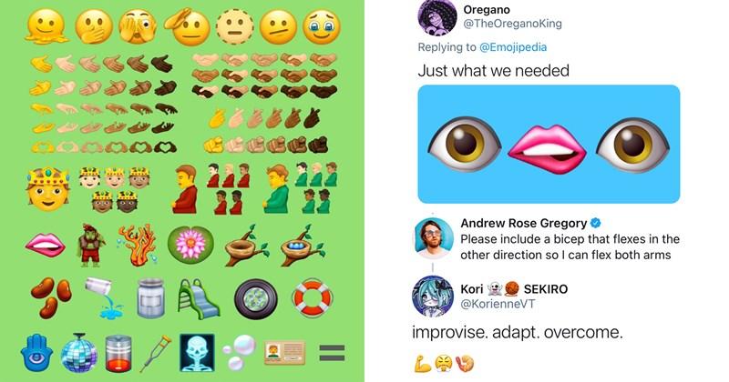 emojis, controversy, transgender, lgbtq, lin manuel miranda, funny, twitter, funny tweets, race, representation, beans, memes, hamsa, pregnant man, social media, lol, stupid people, emojipedia