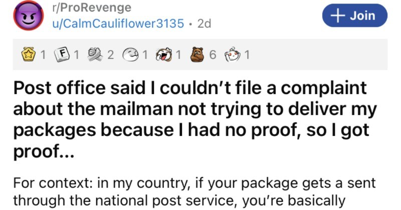 Mailman won't deliver packages properly, so he goes on to get his rightful comeuppance.