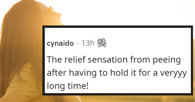 the little things in life | thumbnail text - cynaido · 13h The relief sensation from peeing after having to hold it for a veryyy long time!
