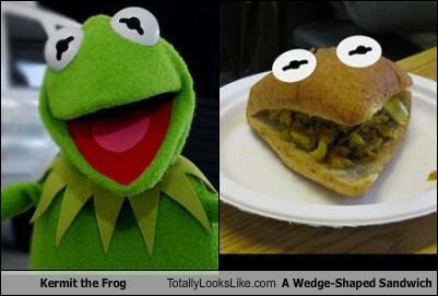food kermit the frog sandwich the muppets - 1481733888