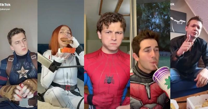 tiktok, marvel, lookalikes, celeb, doppelganger, funny, funny videos, wholesome, disney, memes, duet, avengers, scarlett johansson