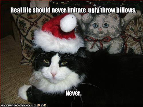 christmas costume hat life lolcats pillows ugly