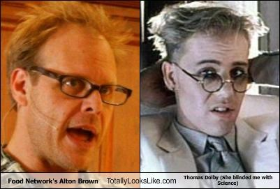 Food Networks Alton Brown Totally Looks Like Thomas Dolby She