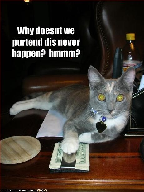 bribe,lolcats,money,pretend,sneaky