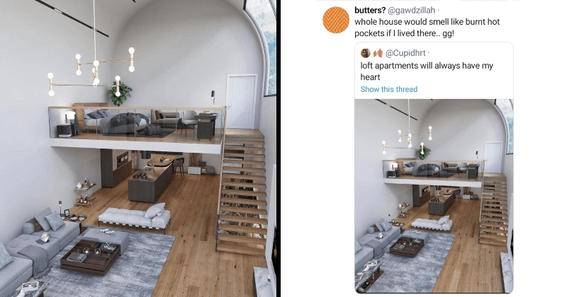 loft, apartment, twitter, cooking, storage, closet, why, home, housing, funny twitter, lol