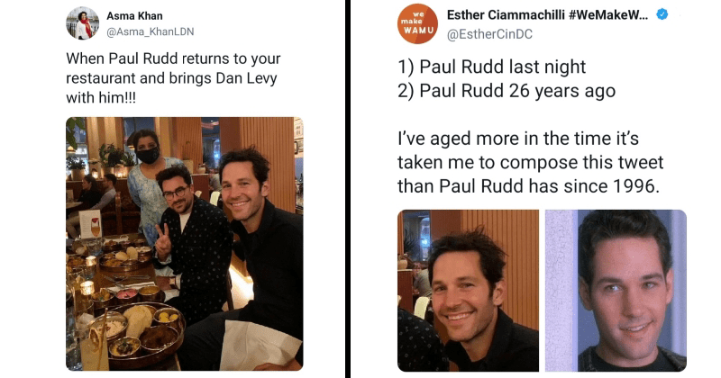 paul rudd, celebrity, restaurant, twitter, dorian gray, aging, old beach, age , young, youth
