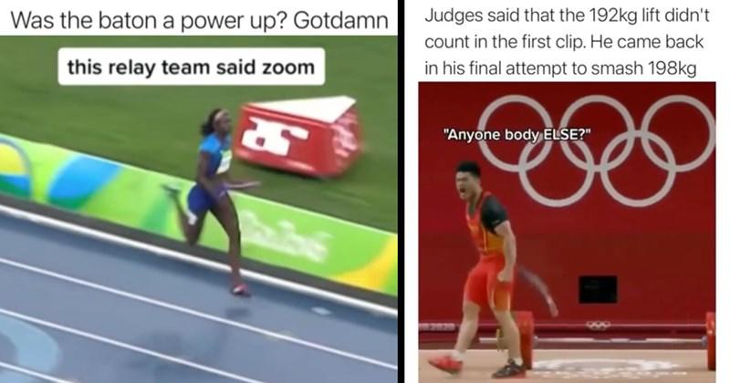 olympics, olympic games, tokyo, sports, athletes, viral videos, next fucking level, simone biles, gymnastics, swimming, wrestling, relay