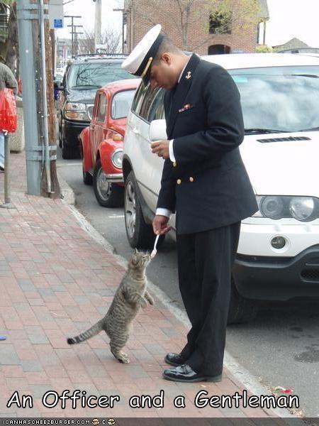 fud gentleman lolcats nom nom nom officer polite soldier - 1491803904
