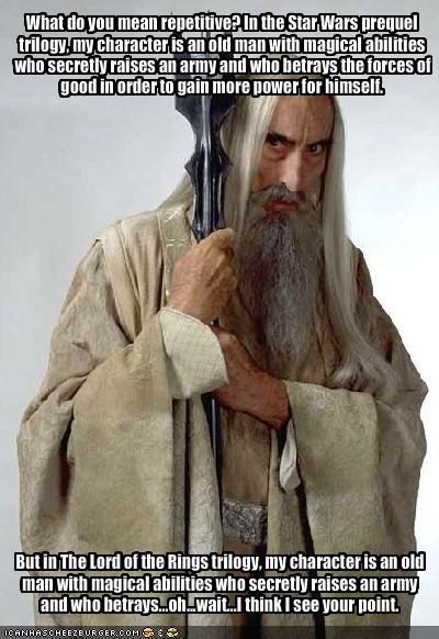 Christopher Lee Lord of the Rings movies sci fi star wars - 1493827328