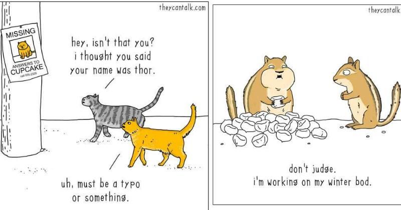 they can talk web comics talking animals - 1497093