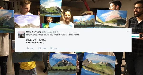 birthday bob ross win