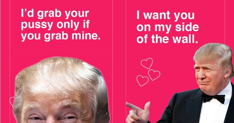 donald trump,Valentines day