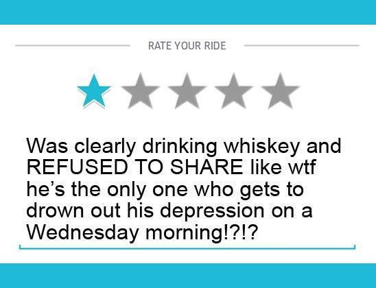 funny uber reviews