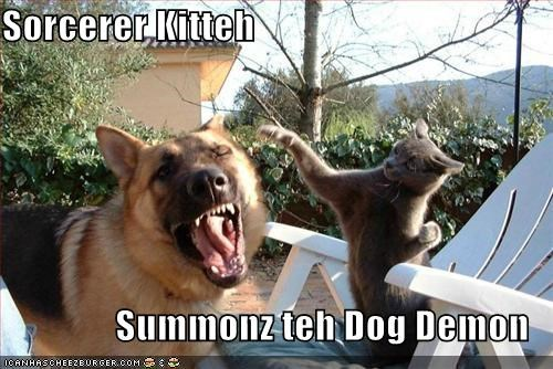 demon,german shepherd,lolcats