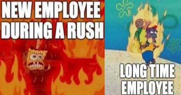 funny spongebob work memes