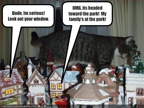christmas city giant godzilla lolcats - 1521667840