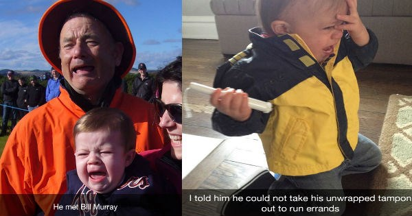 snapchats of babies crying for the no reasons ever