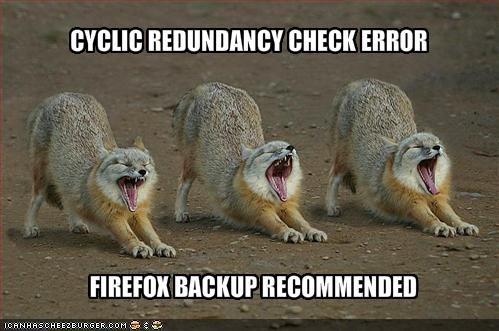 CYCLIC REDUNDANCY CHECK ERROR - Cheezburger - Funny Memes