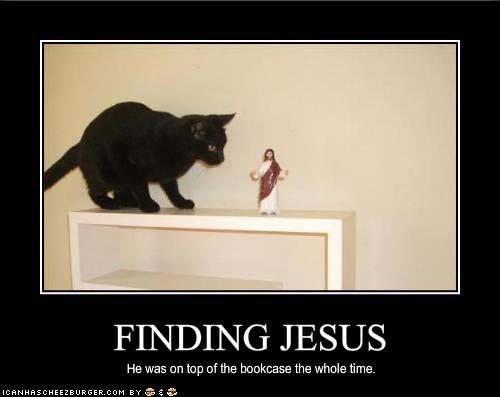 bookshelf jesus lolcats - 1525828864
