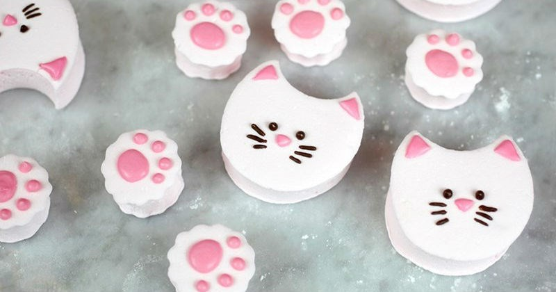 hot chocolate marshmallows marshmallow cooking recipe sweet meow food Cats - 1526789
