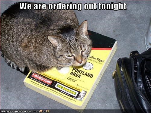 We are ordering out tonight