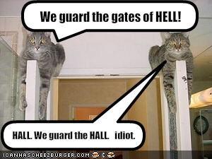 door guarding hallway hell lolcats - 1541967616