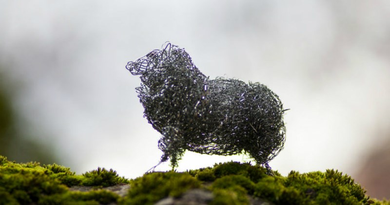 art list animals sculpture wire crafts
