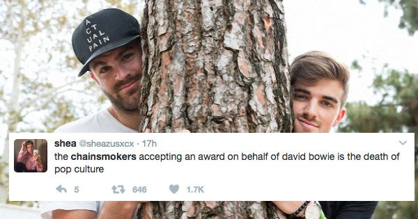 The Chainsmokers Won a Grammy Last Night and People Were Not Pleased About It
