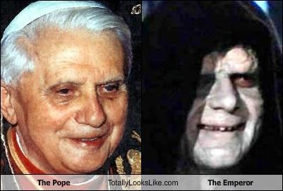 The Pope Totally Looks Like The Emperor