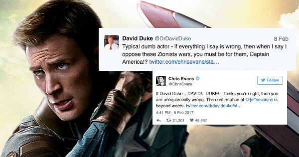 chris evans twitter war white supremacist nazi