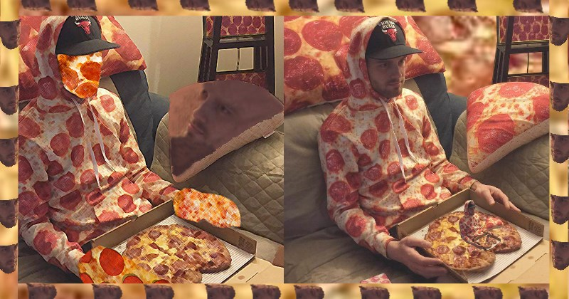 photoshopping everything into a pizza