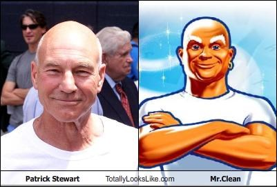 mr clean patrick stewart Star Trek x men