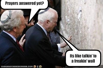 democrats independent jerusalem Joe Lieberman john mccain prayer Republicans the wailing wall the western wall United States Senate - 1575298816