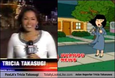 Asian reporter tricia takanawa with